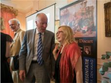 Coen Schimmelpenninck van der Oije, Johan Carel Bierens de Haan en mevrouw dr. Heidemaria Gürer, Oostenrijkse Ambassadeur
