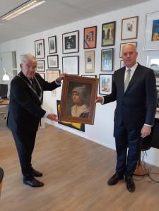Theo Kralt - Schilderij van Volendams meisje
